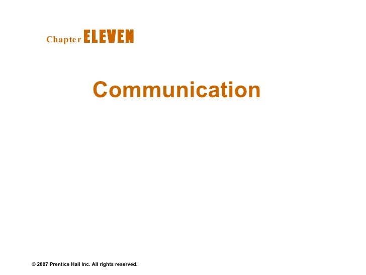 Communication  Chapter   ELEVEN