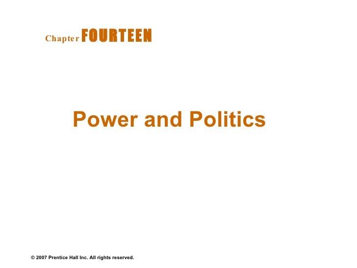 Power and Politics  Chapter   FOURTEEN