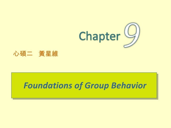 Ob9 foundations of group behavior星維