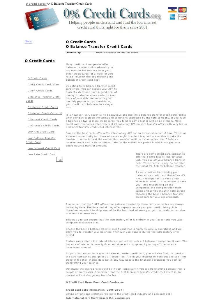 O Credit Cards   => O Balance Transfer Credit Cards     Share                           O Credit Cards                    ...