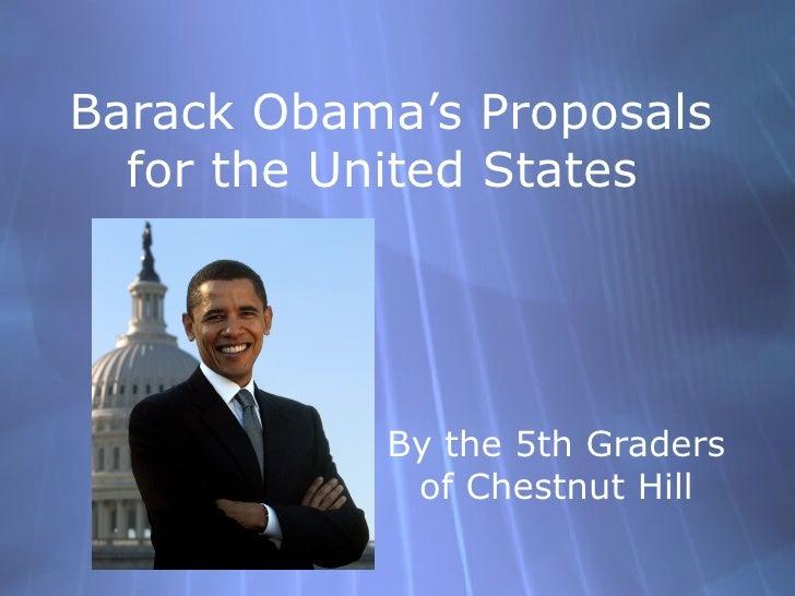 Obama Proposals