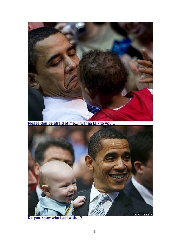 Obama And Bush With Children