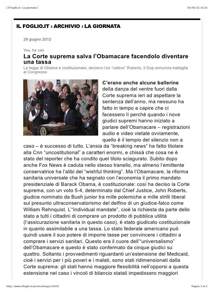 [ Il Foglio.it › La giornata ]                                                                               30/06/12 16:2...
