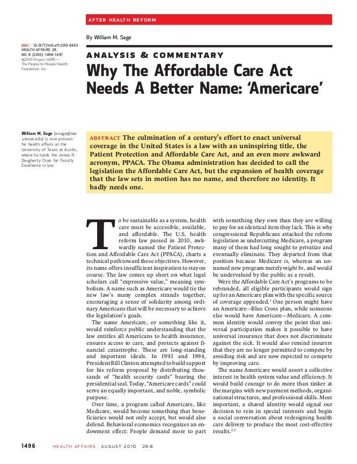 After Health Reform                                   By William M. Sagedoi:   10.1377/hlthaff.2010.0465HEALTH AFFAIRS 29,...