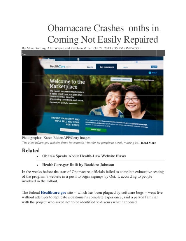 Obamacare crashes  onths in coming not easily repaired - hCentive news