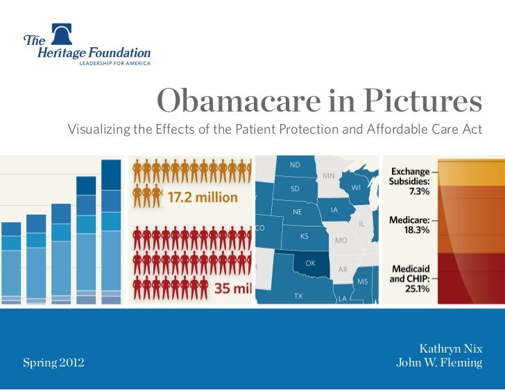 Obamacare in Pictures       Visualizing the Effects of the Patient Protection and Affordable Care Act                     ...