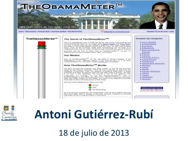 Antoni Gutiérrez-Rubí 18 de julio de 2013