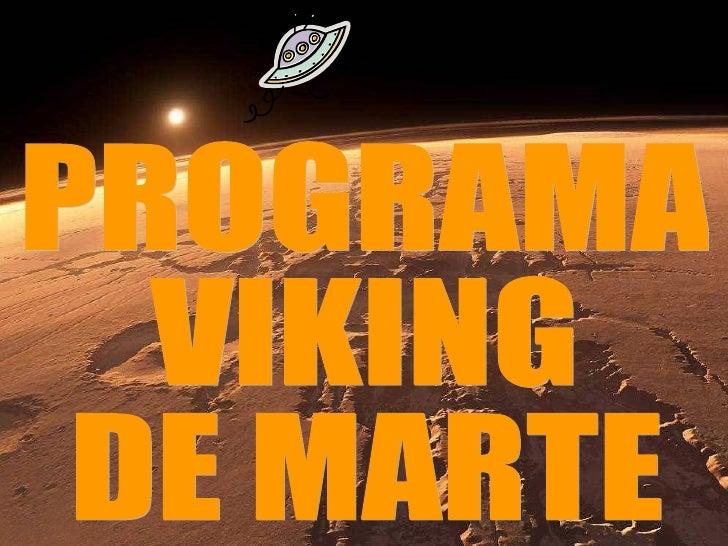 PROGRAMA VIKING DE MARTE