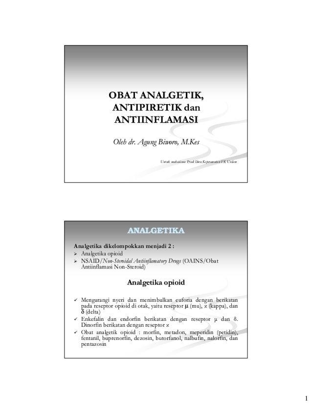 Obat analgetika, antipiretik, dan antiinflamasi