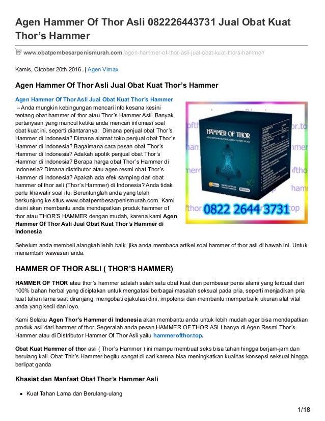 agen hammer of thor asli 082226443731 jual obat kuat thors