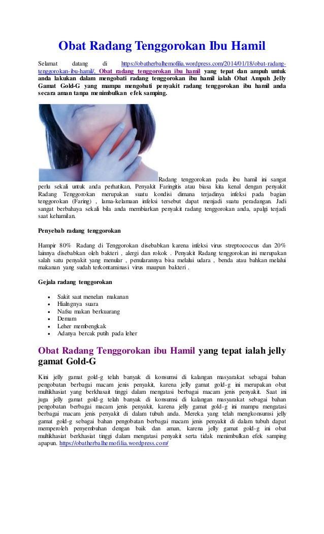 Obat Radang Tenggorokan Bagus - Various Daily
