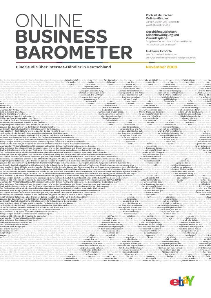 Online Business Barometer I November 2009
