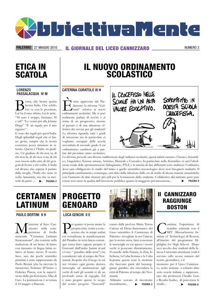 PALERMO 27 MAGGIO 2010                    IL GIORNALE DEL LICEO CANNIZZARO                                                ...