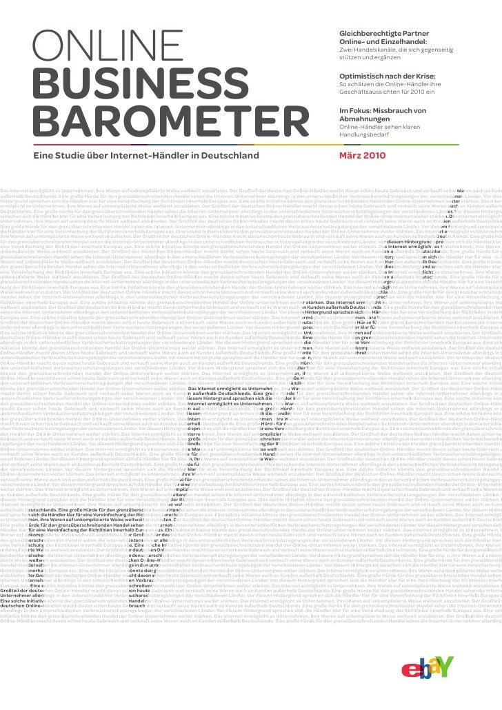 Online Business Barometer II März 2010