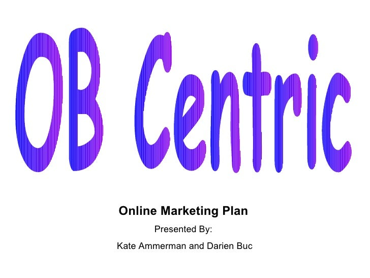 Internet Marketing Plan- for small business owners of OB Centric