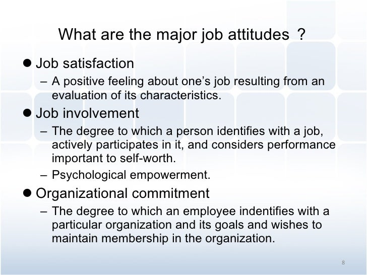 employee attitude and job satisfaction article Favorable attitudes towards the job indicate job satisfaction  the logic that a  satisfied employee is a happy employee and a happy employee is a sucesful.