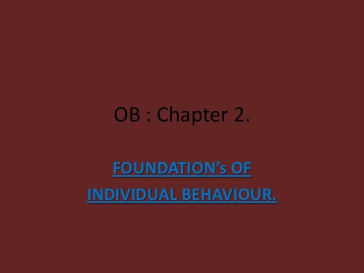 Organizational Behavior Chapter 2