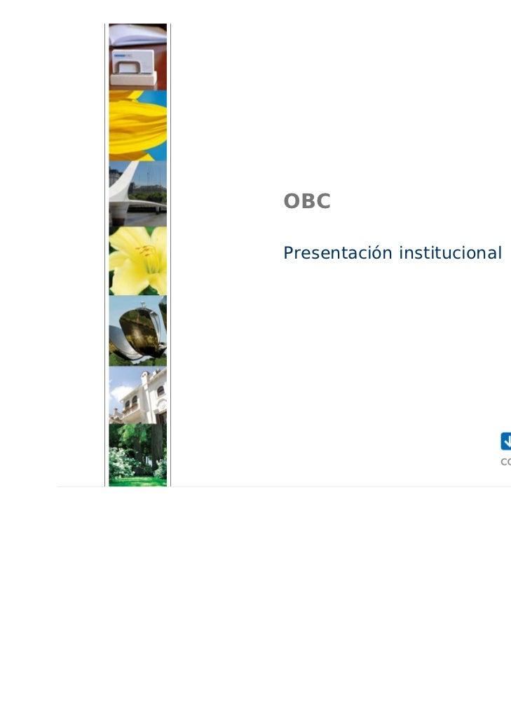 OBCPresentación institucional