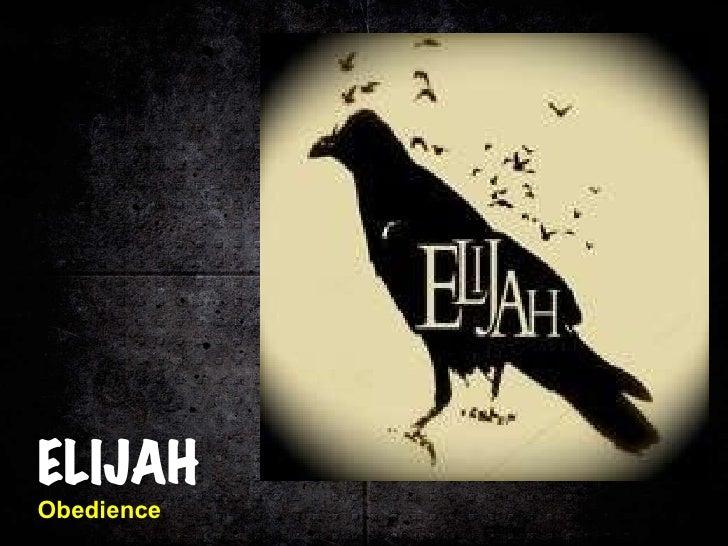 Elijah: Obedience