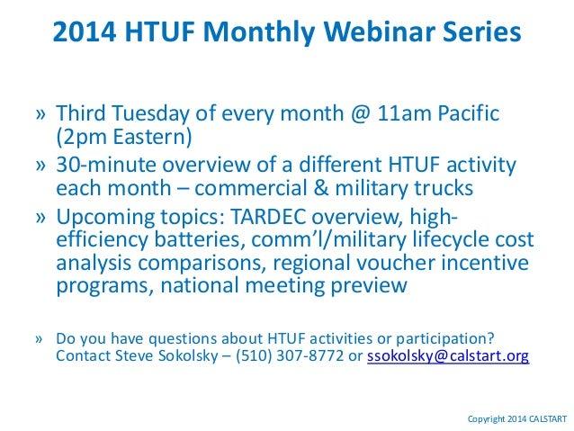 HTUF Webinar Series: On-Board Diagnostics Update 03 18-2014