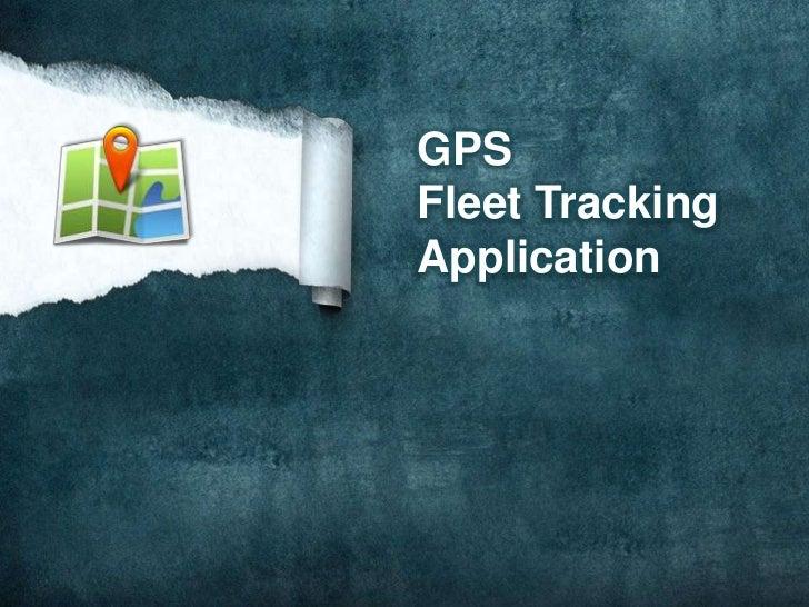 GPSFleet TrackingApplication