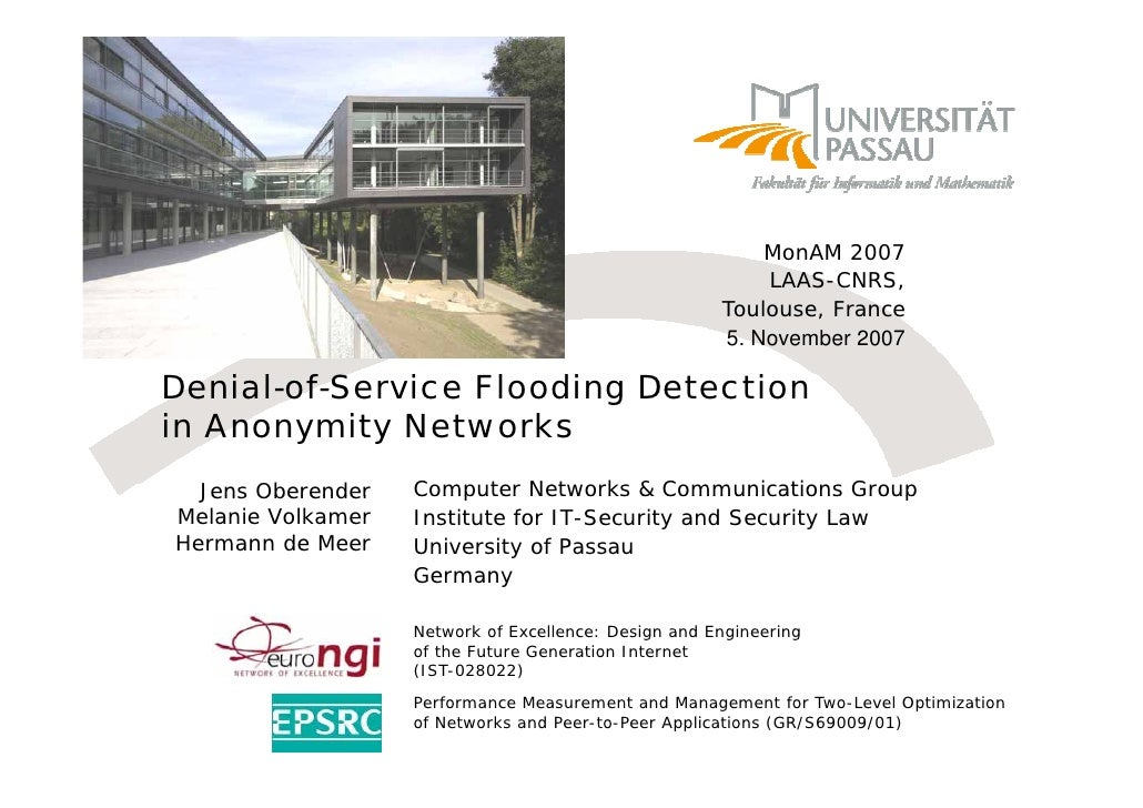 Denial Of Service Flooding Detection In Anonymity Networks
