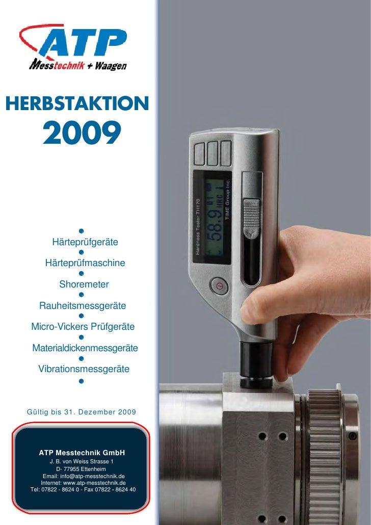 HERBSTAKTION       2009             Härteprüfgeräte         Härteprüfmaschine               Shoremeter       Rauheitsmessg...