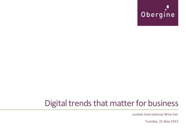 Digital trends that matter for business