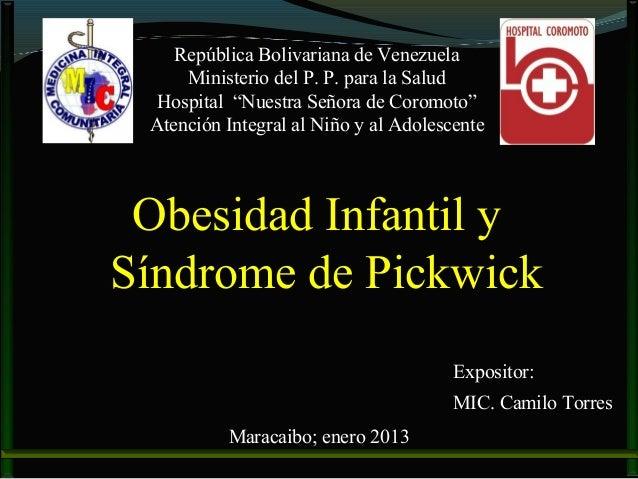 """República Bolivariana de Venezuela     Ministerio del P. P. para la Salud  Hospital """"Nuestra Señora de Coromoto"""" Atención ..."""