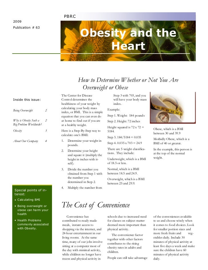 Obesity and the heart newsletter