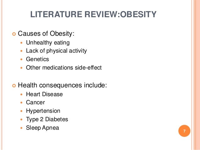 childhood obesity literature review essays This literature review examines several of the factors that place low-income children at risk for developing obesity: environmental (ie, lack of access to healthy affordable food and media exposure to commercials for junk food) psychological.