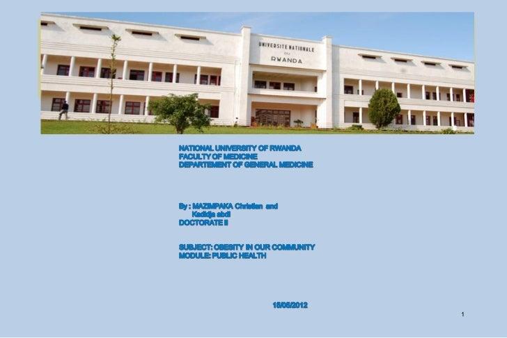 OBESITY IN RWANDA                    1