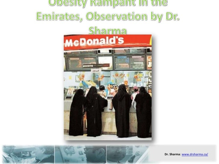 Obesity rampant in the emirates, observation by dr. sharma