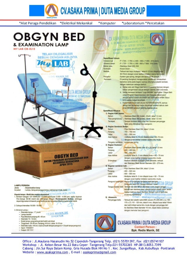 Pengadaan Alat-Alat Kedokteran Obgyn Bed dan Implant Kit 2015 ~   Pengadaan Obgyn Bed - LPSE ~ Sarana Pelayanan Klinik KB obgyn bed