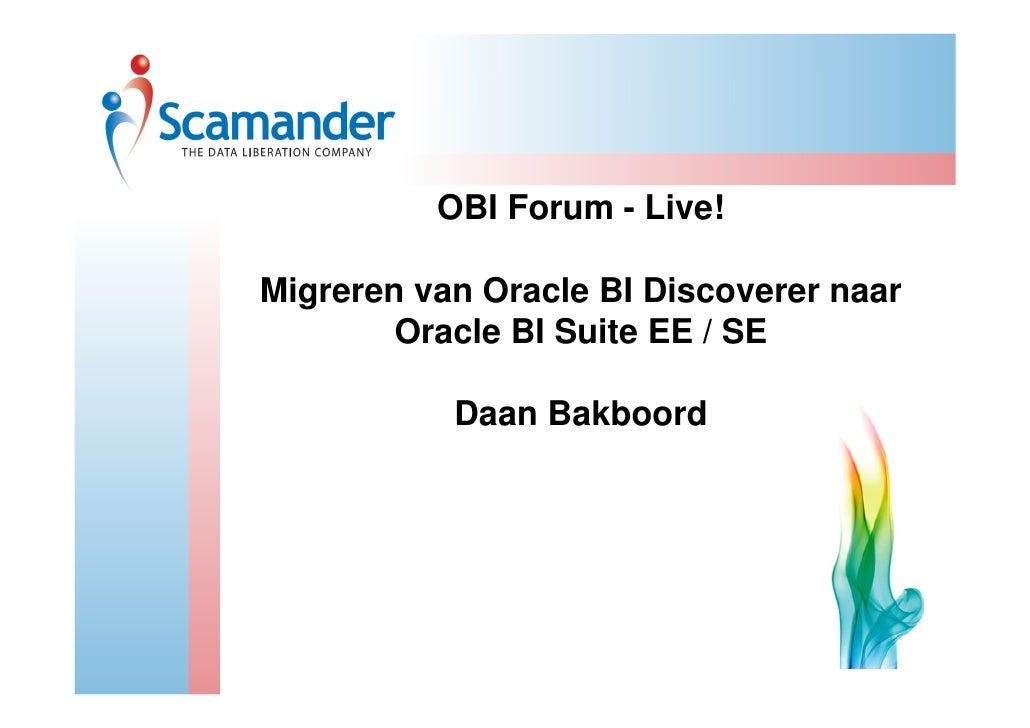 Oracle Discoverer to Oracle BI EE