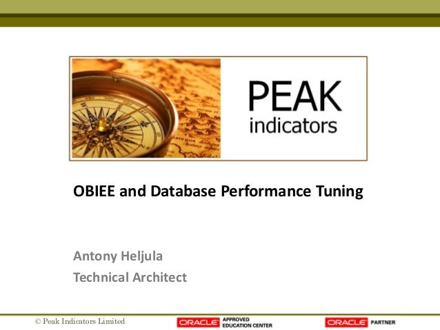 Obiee and database performance tuning