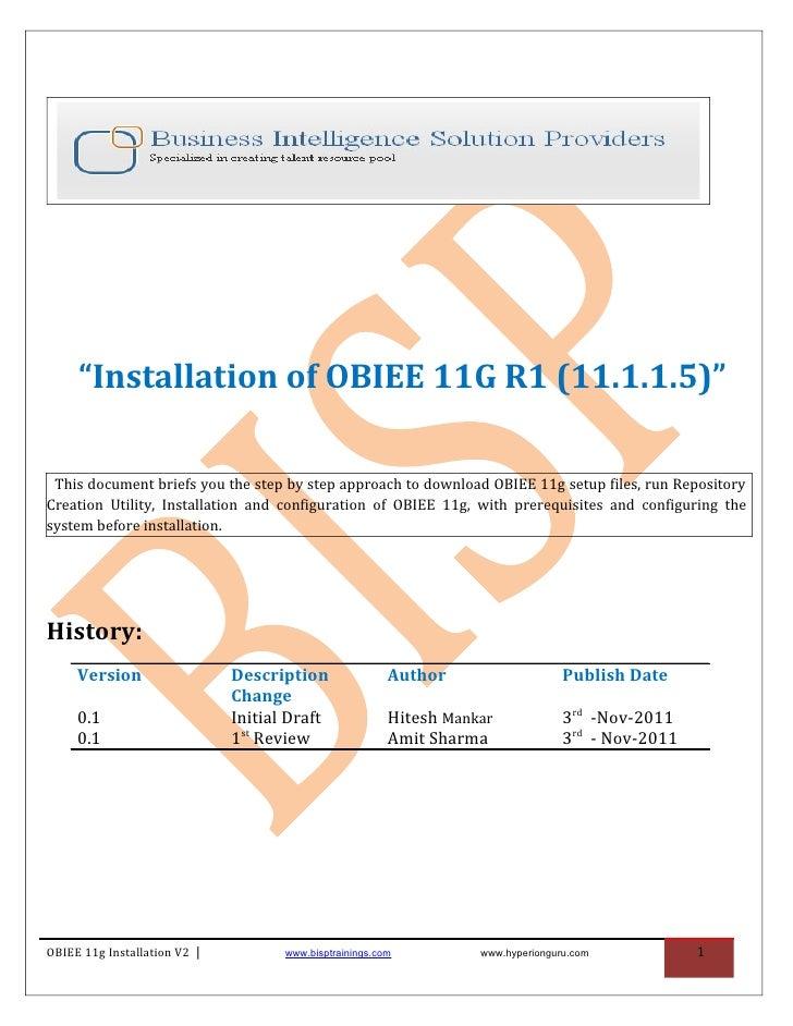 Obiee installation guide v2