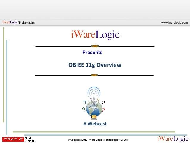 OBIEE 11g Overview | Free Webcast