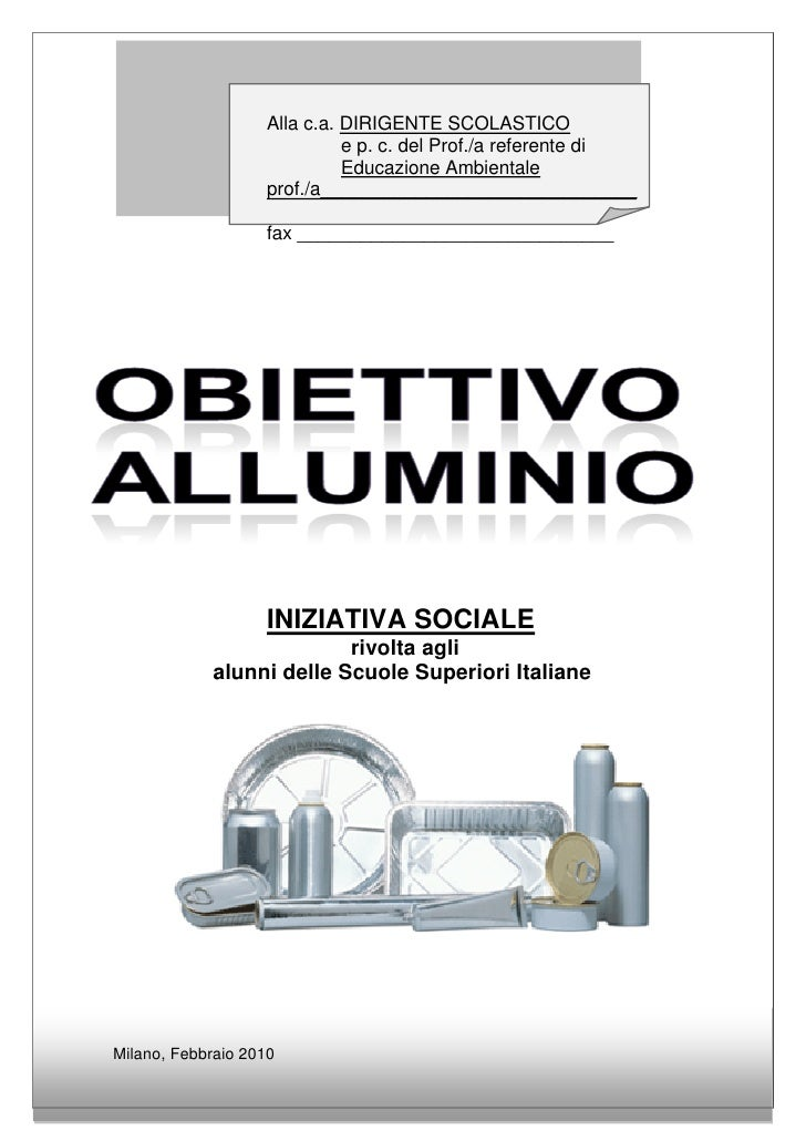 Obiettivo Alluminio