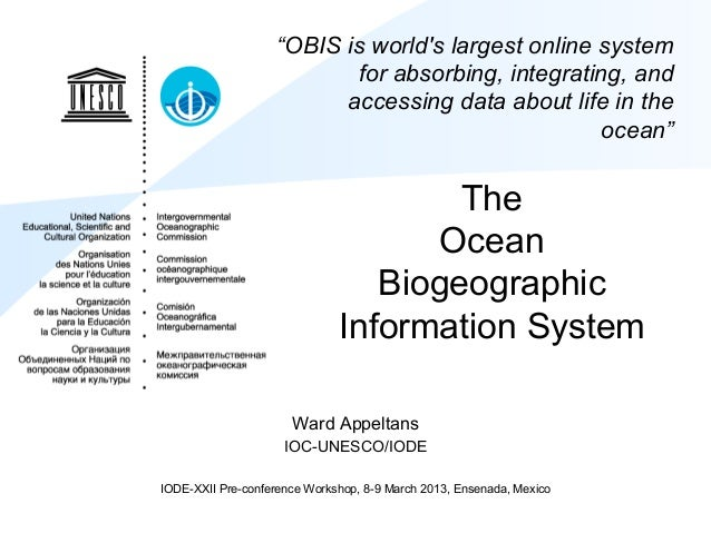 OBIS at IODE-XXII pre-conference workshop