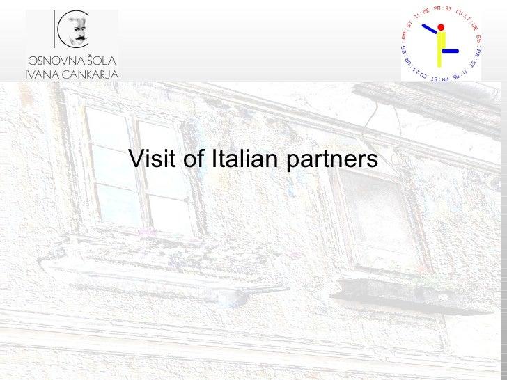 Visit of Italian partners