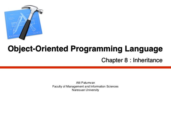 Object-Oriented Programming Language                                            Chapter 8 : Inheritance                   ...