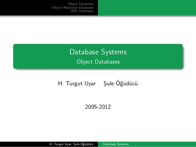 Database Systems - Object Databases