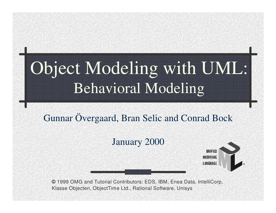 Object Modeling with UML: Behavioral Modeling