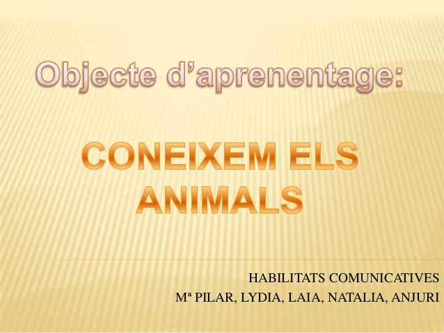 HABILITATS COMUNICATIVESMª PILAR, LYDIA, LAIA, NATALIA, ANJURI
