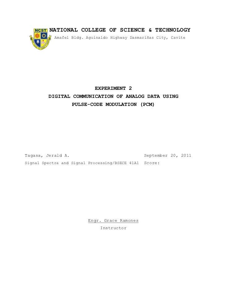 NATIONAL COLLEGE OF SCIENCE & TECHNOLOGY            Amafel Bldg. Aguinaldo Highway Dasmariñas City, Cavite                ...
