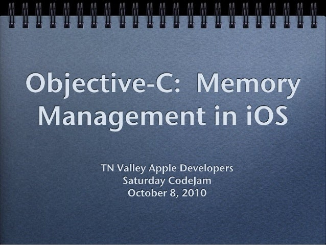 Objective-C Memory Management
