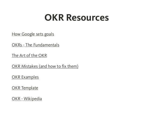 Okr objectives and key results effective goal setting for Google okr template