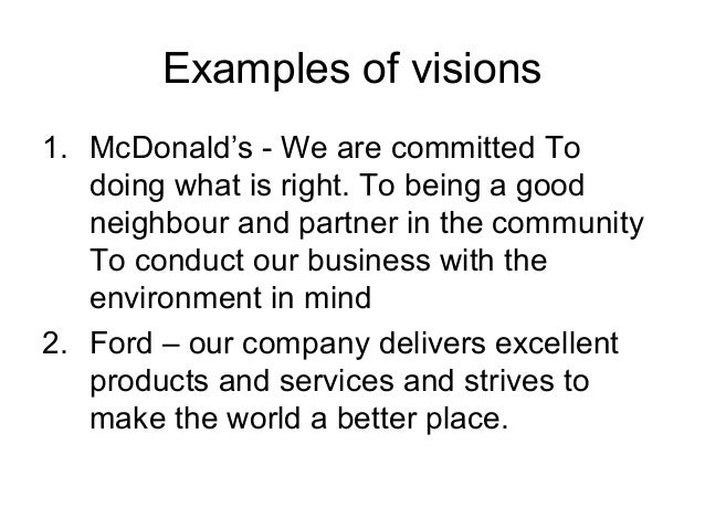 How to write a powerful vision statement