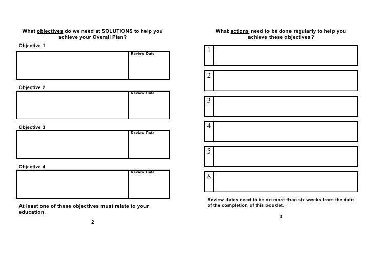Objectives Leaflet